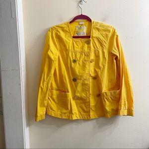 Michael Kors yellow double button utility jacket S